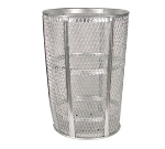 Witt Industries EXP-52 48-Gallon Outdoor Trash Can w/ See Through Mesh, Galvanized Steel