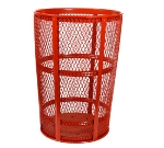 Witt Industries EXP-52RD 48-Gallon Outdoor Trash Can w/ See Through Mesh, Red Finish