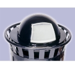 Witt Industries M3601-DTL-BK 23.75-in Outdoor Dome Top Lid For M3601 Trash Cans, Black