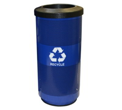 Witt SC20-01-RP-BL 20-gal Multiple Materials Recycle Bin - Indoor/Outdoor, Decorative