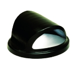 Witt Industries SC55HT 24.75-in Hood Top Lid For SC55 Trash Cans, Black Plastic