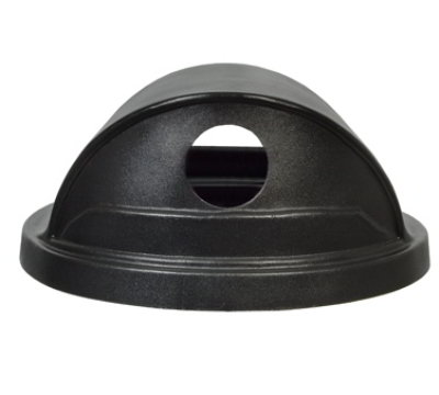 Witt SC55HT-RHH 24.75-in Hood Top Lid w/ 2-Hole Openings For SC55 Cans, Black