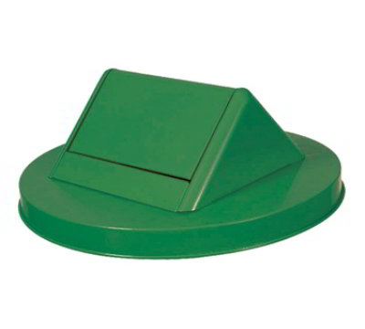 Witt SWT55GN Round Swing Top Trash Can Lid - Metal, Green