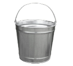 Witt Industries W10120 12-qt Outdoor Pail w/ Attached Bail, Galvanized Steel