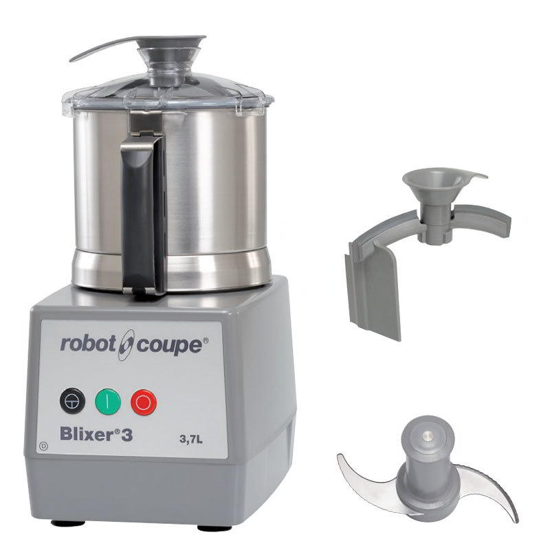 Industrial Kitchen Blender: Robot Coupe BLIXER3 Vertical Commercial Blender Mixer W/ 3