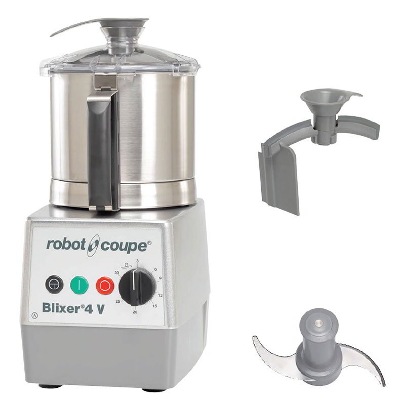 Robot Coupe BLIXER4V Vertical Commercial Blender Mixer w/ 4.5-qt Capacity & Variable Speeds