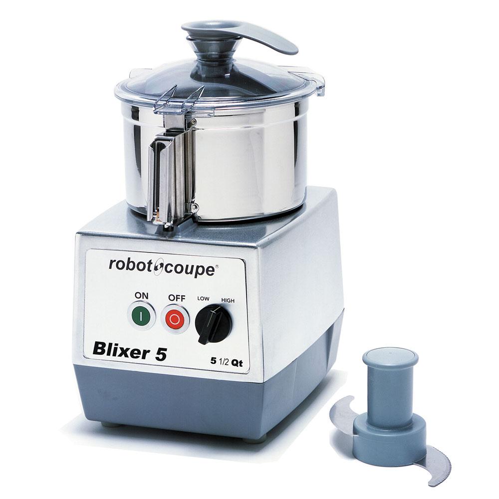 robot coupe blixer5 vertical commercial blender mixer w 5 5 qt capacity 2 speeds. Black Bedroom Furniture Sets. Home Design Ideas