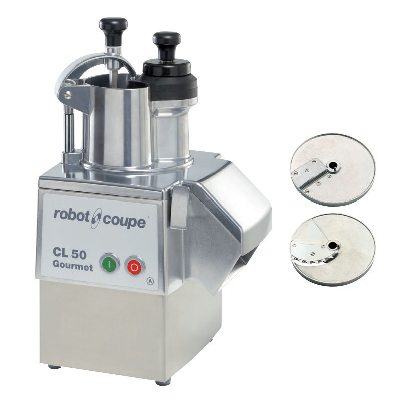 Robot Coupe CL50GOURMET Commercial Food Processor w/ Bruniose Disc & Stainless Base