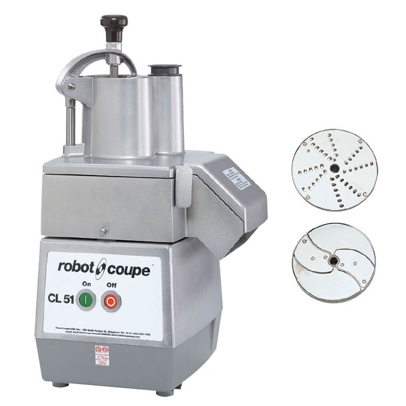 Robot Coupe CL51 1-Speed Cutter Mixer Food Processor w/ Side Discharge, 120v
