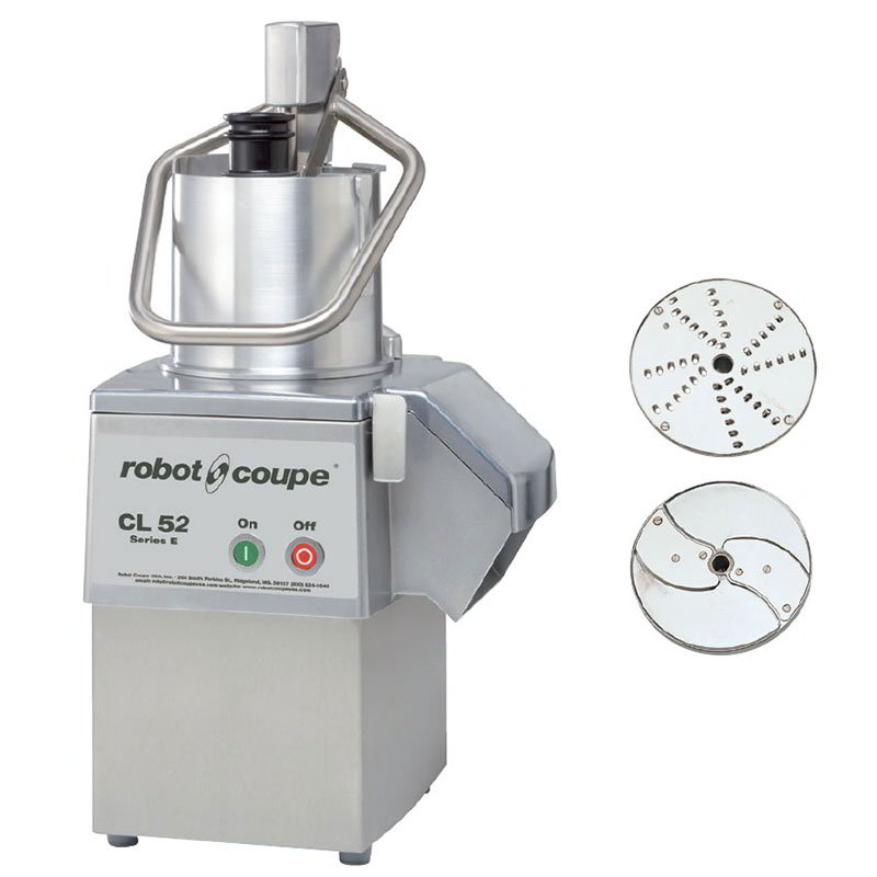 Robot Coupe CL52E 1-Speed Cutter Mixer Food Processor w/ Side Discharge, 120v
