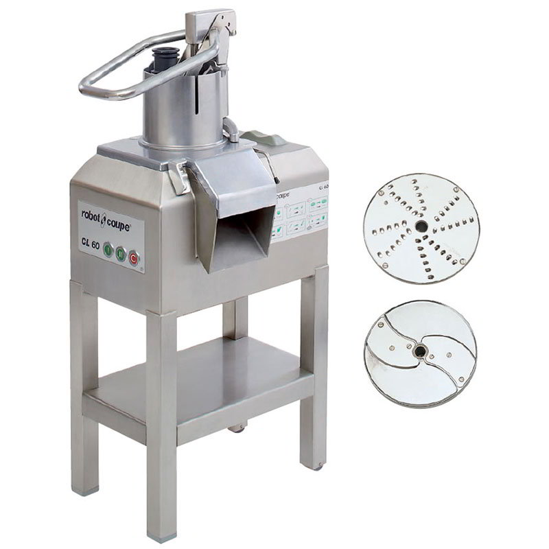 Robot Coupe CL60PUSHER 2-Speed Continuous Feed Food Processor w/ Side Discharge, 208-240v/3ph