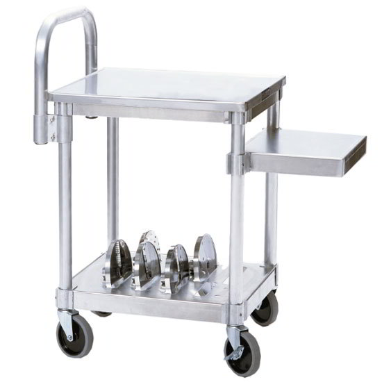 "Robot Coupe R199 18.5"" x 34.25"" Mobile Equipment Stand for Slicers, Undershelf"