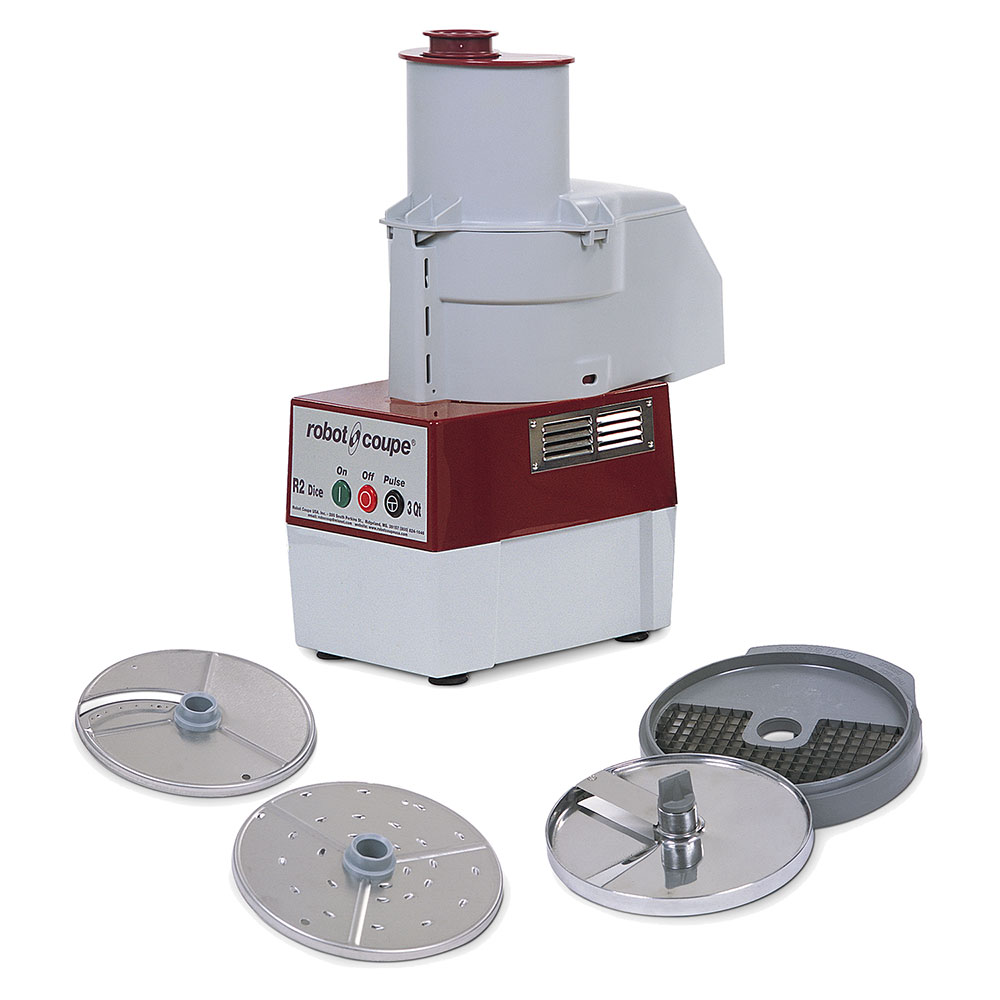 Robot Coupe R2CDICE Commercial Food Processor w/ Continuous Feed & R209 & R211 (10-mm Dice Kit)