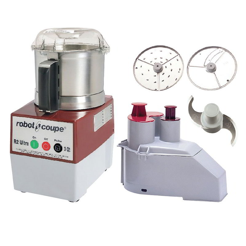 Robot Coupe R2NULTRA Commercial Food Processor w/ 3-qt Stainless Bowl & Continuous Feed