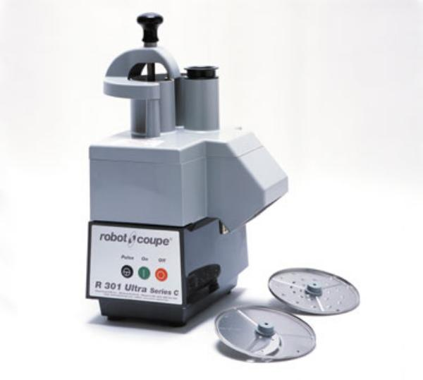 Robot Coupe R301 ULTRA C Commercial Food Processor, Continuous Feed Kit & 2 Plates, No Bowl