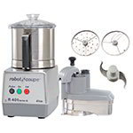 Robot Coupe R401 Combination Food Processor w/ 4.5-qt Stainless Bowl & Continuous Feed Kit
