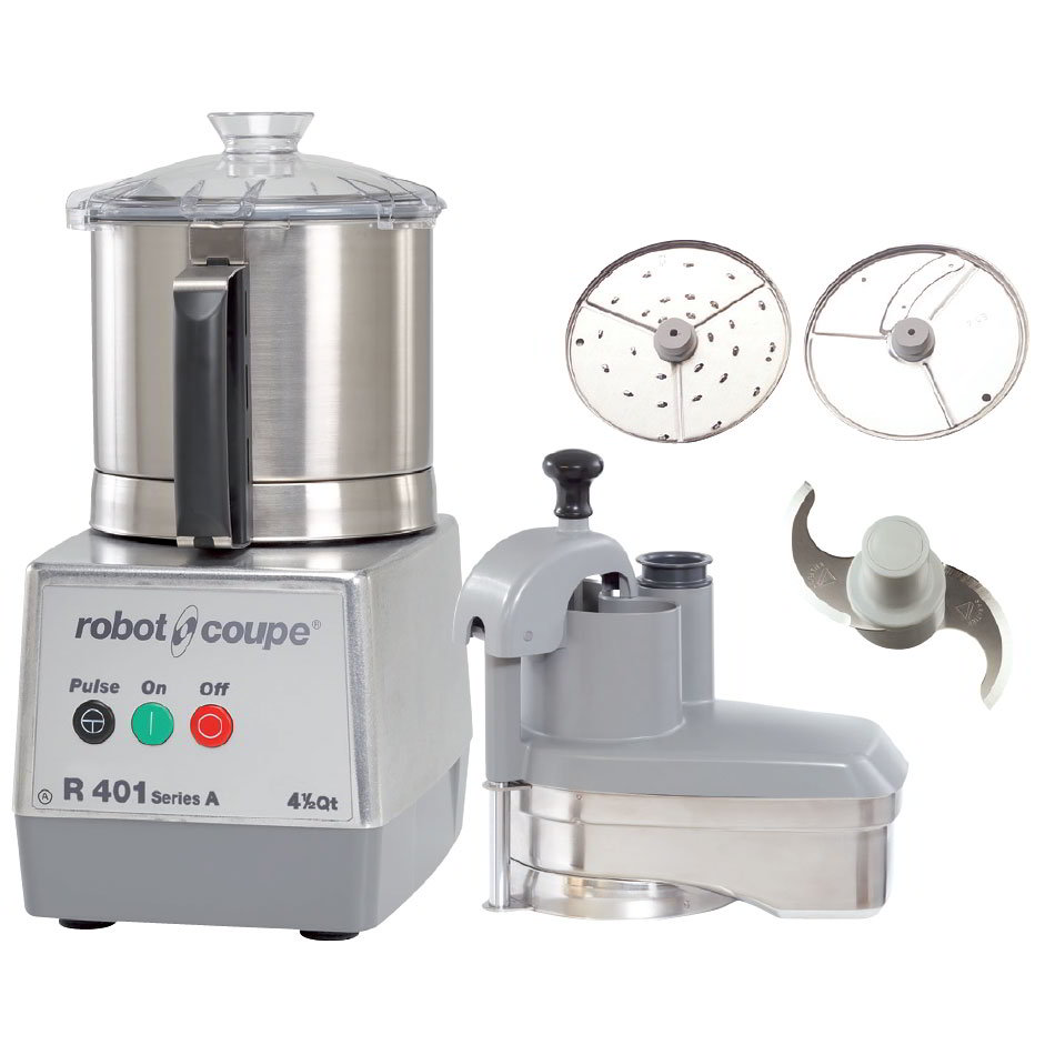 Robot Coupe R401 1-Speed Continuous Feed Food Processor w/ 4.5-qt Bowl, 120v
