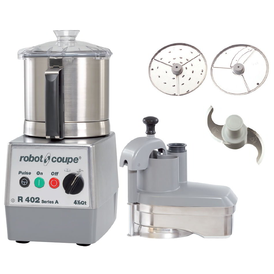 Robot Coupe R402SERIESA Combination Food Processor w/ 4.5-qt Stainless Bowl & Continuous Feed Kit