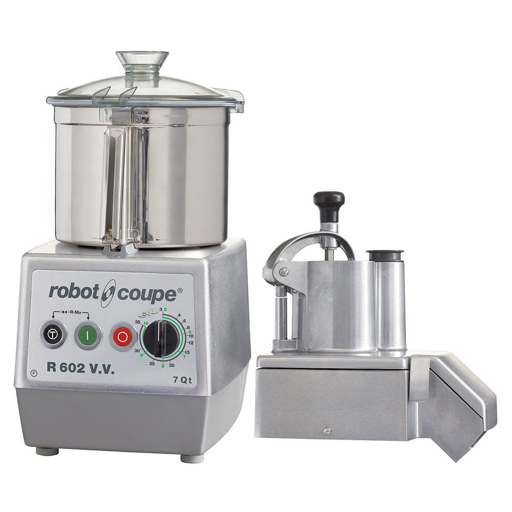 Robot Coupe R602V Variable Speed Continuous Feed Food Processor w/ 7-qt Bowl, 120v