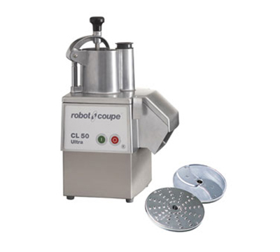 Robot Coupe CL50EULTRA Commercial Food Processor w/ Grating-Slicing Discs & Stainless Motor Base