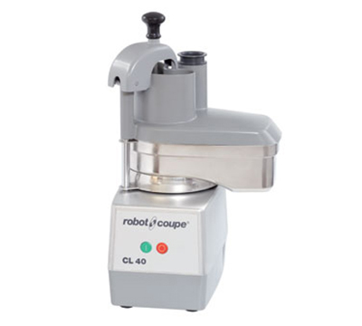 Robot Coupe CL40 Commercial Food Processor w/ Kidney Shaped Pusher & 1-Speed