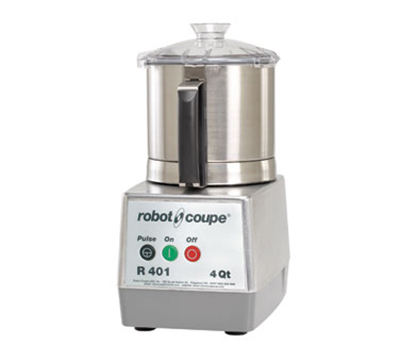 Robot Coupe R401B Cutter Mixer w/ 4.5-qt Stainless Bowl, Smooth Edge S-Blade & 1-Speed