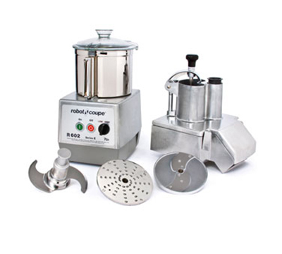 Robot Coupe R602 Combination Food Processor w/ 7-qt Stainless Bowl & Continuous Feed Kit