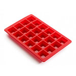 Lekue 0216024R01M017 24-Section Mini Brownie Mold Baking Sheet - Silicone, Red