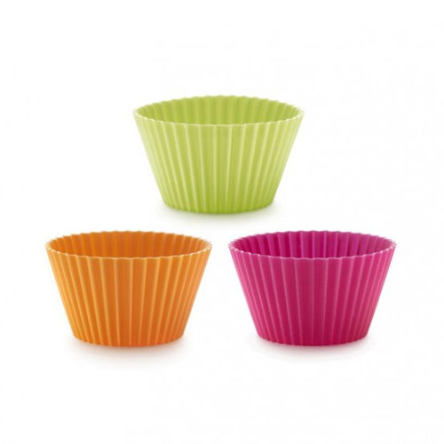 Lekue 0240100SURM033 Classic Muffin Cup Molds - 6 Pc Set, Assorted Colors