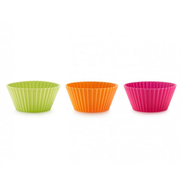 Lekue 0240102SURM033 Big Muffin Cup Molds - 6 Pc Set, Assorted Colors