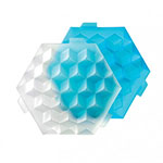 Lekue 0250600Z10C004 XL Square Ice Cube Tray - Blue