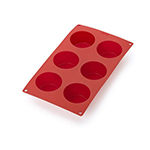Lekue 0620806R01M022 6-Cup Silicone Muffin Pan - Red