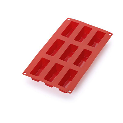 Lekue 0620909R01M022 9-Cup Silicone Mini Cake Mold - Red