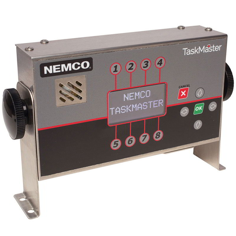 Nemco 2550-8 8-Channel Digital Timer w/ Single LCD Display, 105-265v