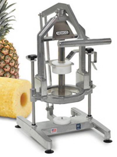 "Nemco 55775-1 Pineapple Corer Peeler w/ 4"" Replaceable Blades, Locking Mechanism & Suction Cups"