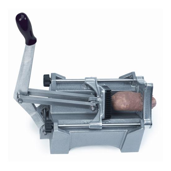 "Nemco 56450A-3 Extra Large Potato Cutter w/ .50"" Square Cut & Polymer Push Block, Aluminum"