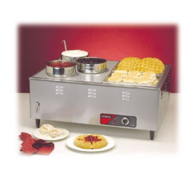 Nemco 6062A Mini Steamtable w/ Front Drain Valves & Extra Steep Wells, 14x30x24-in, 120/1 V