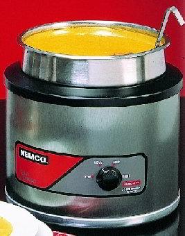 Nemco 6100A Countertop Round Warmer 7 Qt Heavy Duty S/S Restaurant Supply