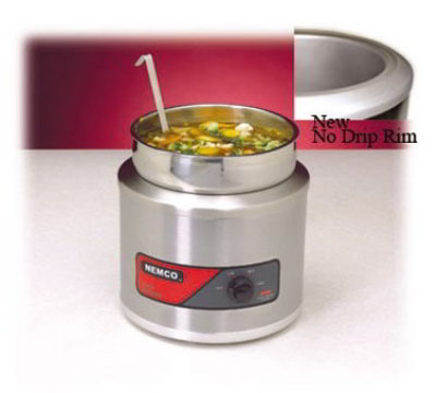 Nemco 6101A-ICL 11-qt Round Countertop Warmer Cover Insert Ladle Restaurant Supply
