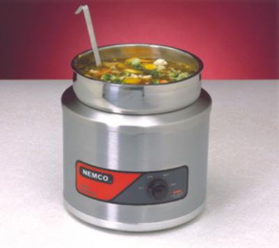 Nemco 6102A Countertop Round Cooker/Warmer 7 Qt Heavy Duty Restaurant Supply