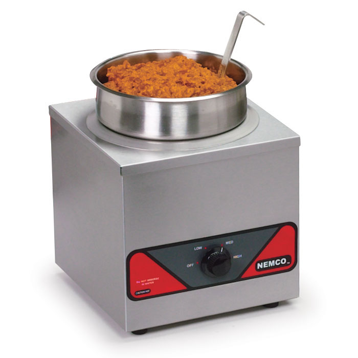 Nemco 6110A-220 4-qt Countertop Warmer w/ Single Well Adjustable Thermostat 3.5-ft Cord 220V