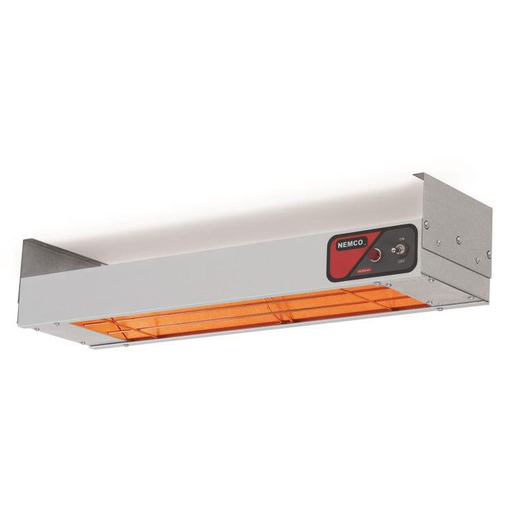 Nemco 6155-48-SL-208 Single Bar Heater w/ Lights - Remote-Controlled, Infrared Heating Element, 208v/1ph