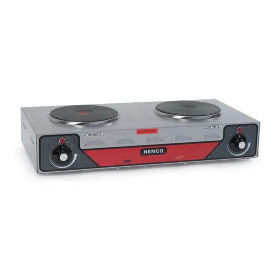"Nemco 6310-2 24.13"" Electric Hotplate w/ (2) Burners & Infinite Controls, 240v/1ph"