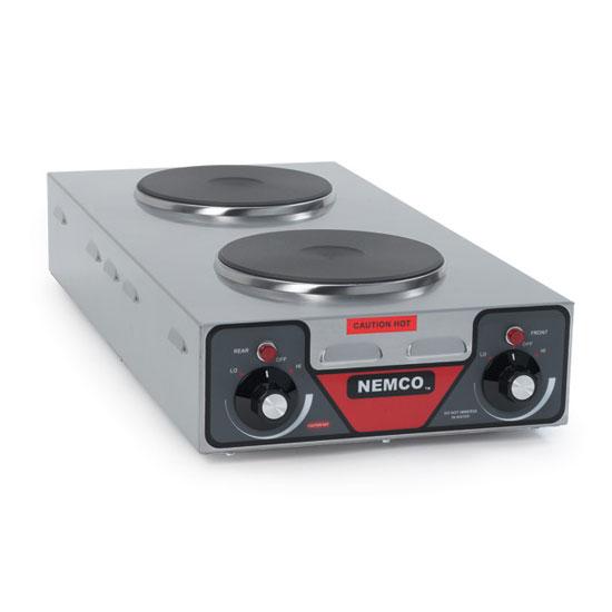 "Nemco 6310-3 25.5"" Electric Hotplate w/ (2) Burners & Infinite Controls, 120v"