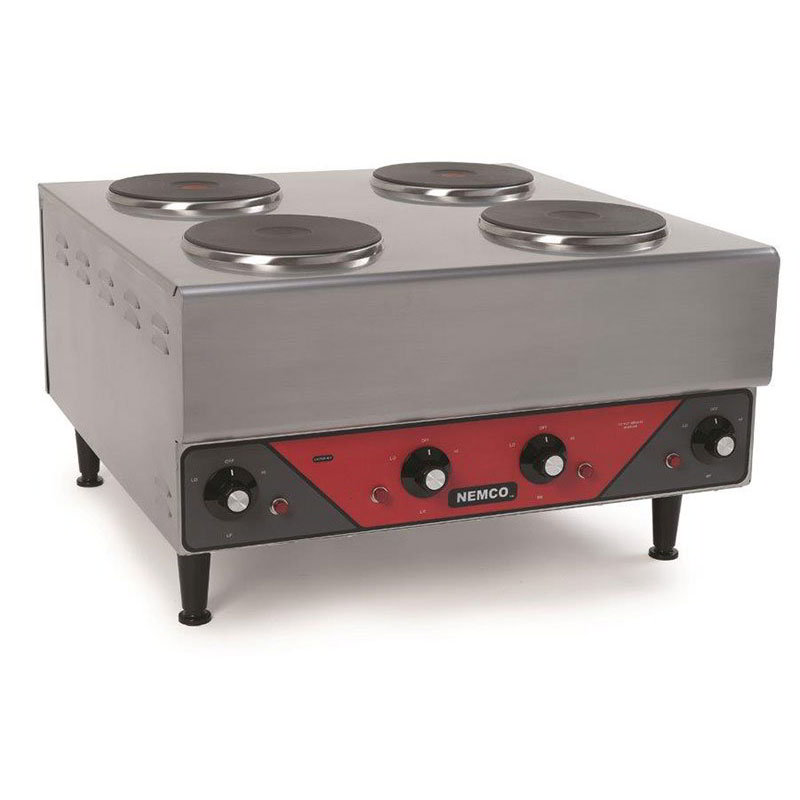"Nemco 6311-2-240 24"" Electric Hotplate w/ (4) Burners & Infinite Controls, 240v/1ph"