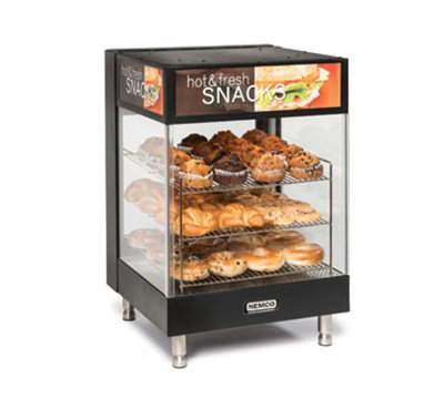 "Nemco 6424 Countertop Snack Merchandiser - 3-Tier, 15"" Angled Square Shelves 120v"