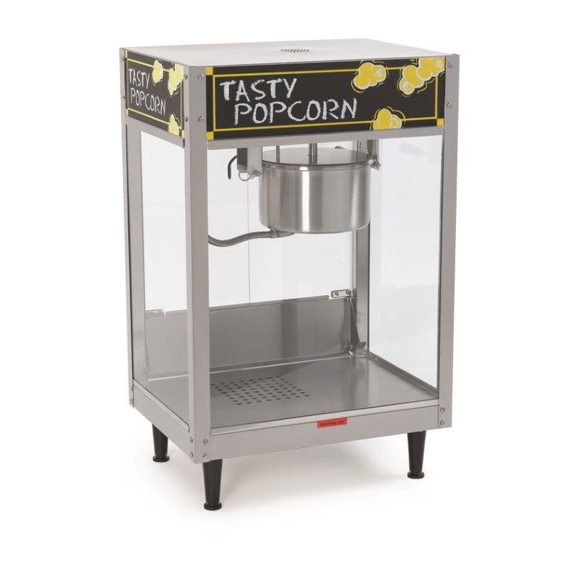 Nemco 6440 Popcorn Popper w/ 8-oz Capacity, Tempered Glass & 9.9-Amps, Stainless, 120/1V