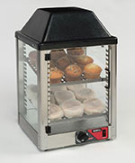 """Nemco 6457 14"""" Self-Service Countertop Heated Display Case - (2) Shelves, 120v"""