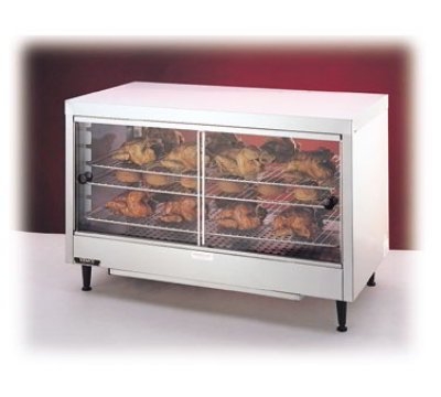 "Nemco 6462 Heated Display Case - (3) Shelf, Sliding Doors, 25.63x40x20.25"", 120v"