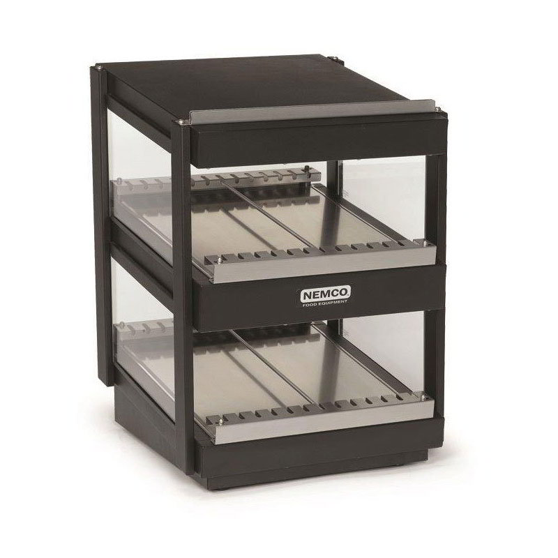 Nemco 6480-18S-B 21.88-in Heated Shelf Merchandiser w/ Slanted Dual Shelf & 7.2-amps, Black